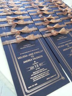 Custom Rose gold Foil invitations Sydney Australia copper thick card.jpg