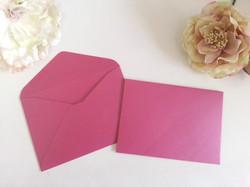 Metallic Fushcia Hot Pink C6 envelopes to fit A6 size cards Sydney Australia
