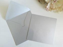 Metallic Silver 16cm square envelopes Sydney Australia