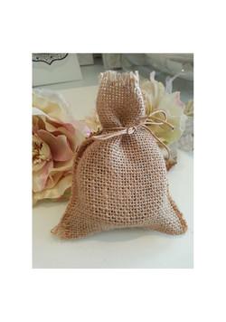 Brown Hessian bag for Rustic Kraft Bonbo