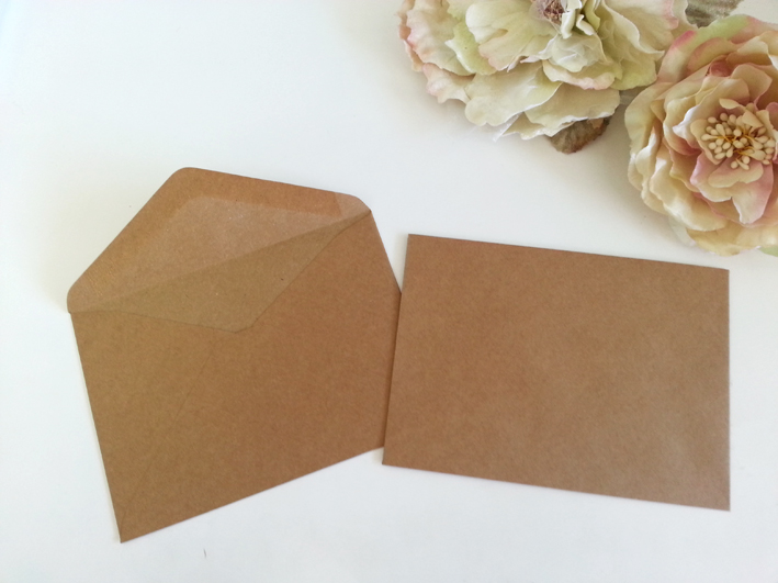Kraft recycle look C6 Banker envelopes fit A6 Postcard Sydney Australia