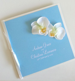 Orchid wedding invitation sydney