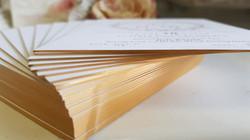 Gold foil edge wedding invitations sydney Australia