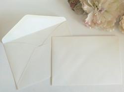 Matt Cream Linen textured C5 envelopes Sydney Australia