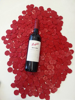 Penfolds wine wax seal stickers Sydney A