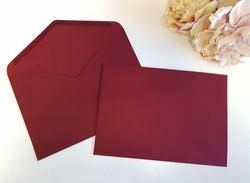 Burgundy C5 envelopes Dark Red Sydney Australia Wedding fit A5 size invitation