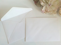 Matt White Linen textured C5 envelopes Sydney Australia