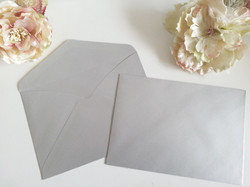 Metalic Silver C5 envelope to fit A5 size wedding invitations card sydney australia