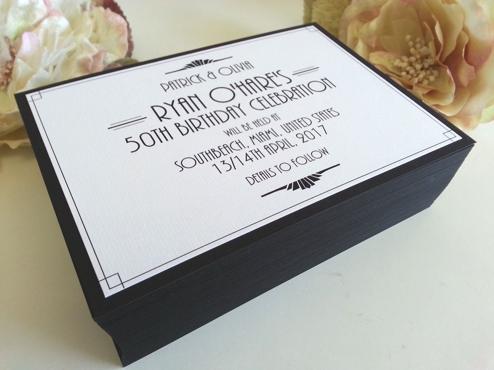 50th Birthday invitations Sydney Australia gatsby theme.jpg