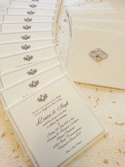 Flat hardcover beautiful elegant classic wedding invitation Sydney Australia embellishment.jpg