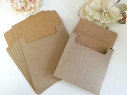 Kraft Recycle Hessian Square 16cm envelope box one piece sydney Australia