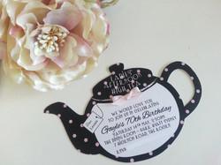 Kitchen Tea Teapot 70th Birthday High Tea Invitations Sydney Black and Pink Australia.jpg