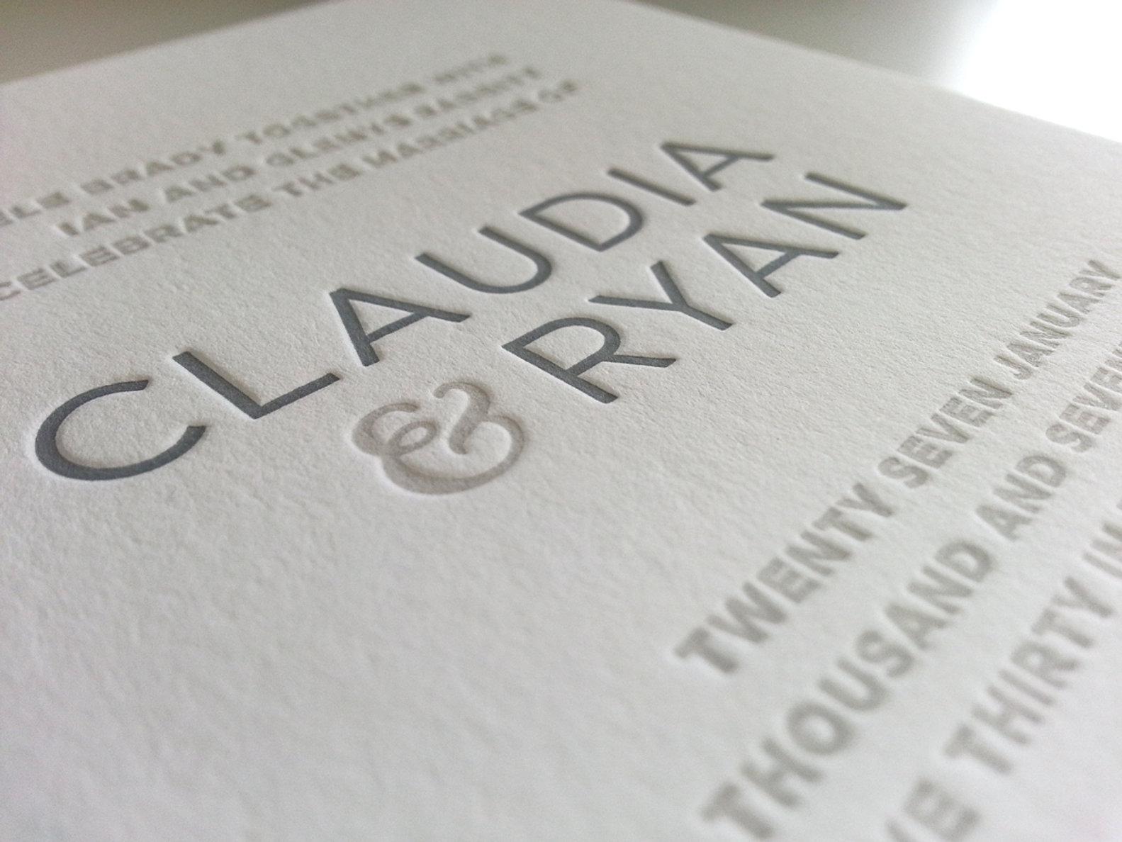 Letterpress Wedding Invitations Sydney Contemporary Australia Jpg
