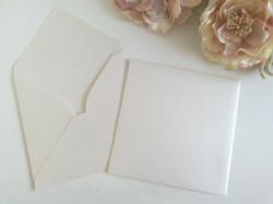 Metallic Off White 120gsm 16cm square envelopes v flap sydney Australia