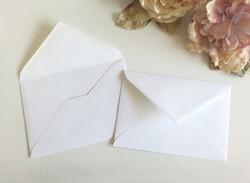 Fit 5 by 7 inch Envelopes Matt White Sydney Australia 13cm by 18.5cm