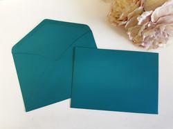 Teal C5 envelopes Sydney Australia Turquoise Aqua C5 Wedding envelope seal Euro Flap