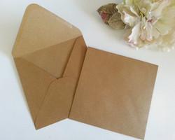 Kraft Recycle Hessian 16cm square envelopes Sydney Australia