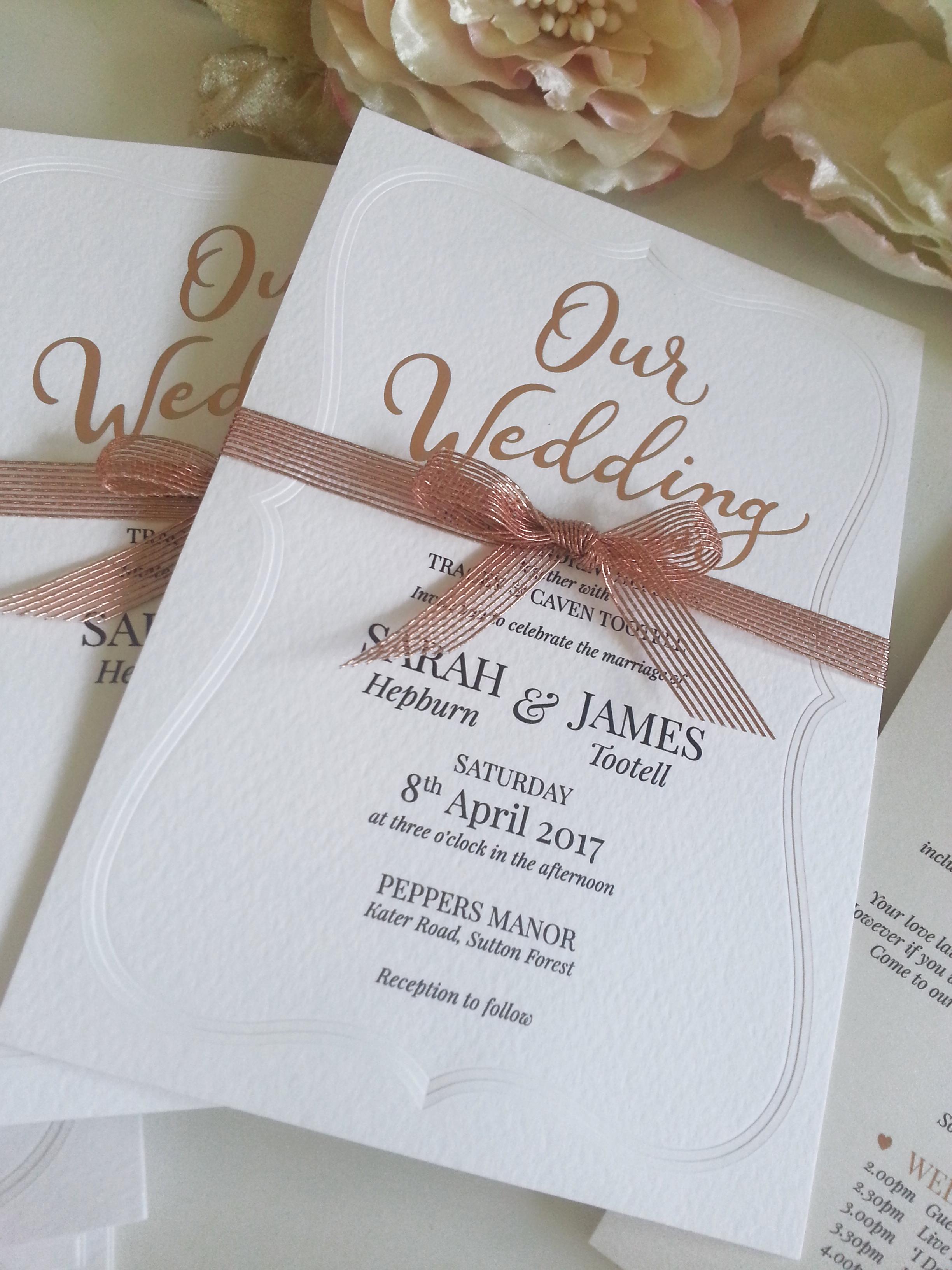 Emboss gold foil copper wedding invitation sydney australia.jpg