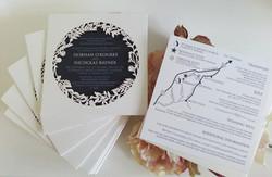 Laser cut square navy blue white text wedding invitation sydney.jpg