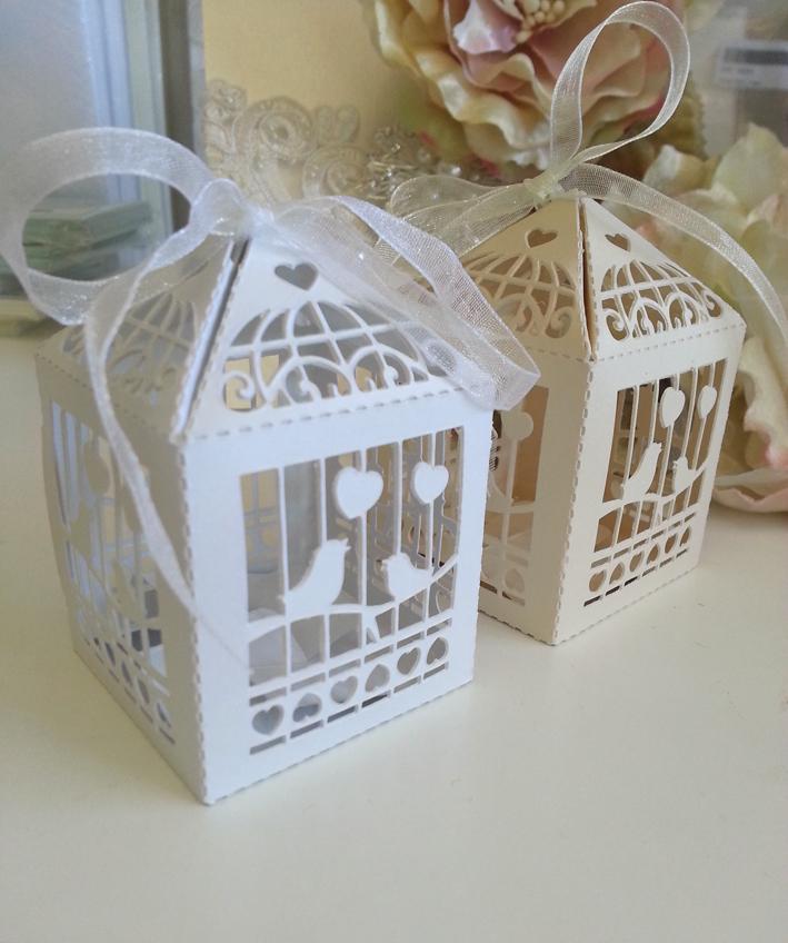 Birdcage bonbonneire box sydney White an