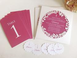Unique Christening girl invitations Sydney lasercut White Pink Australia.jpg