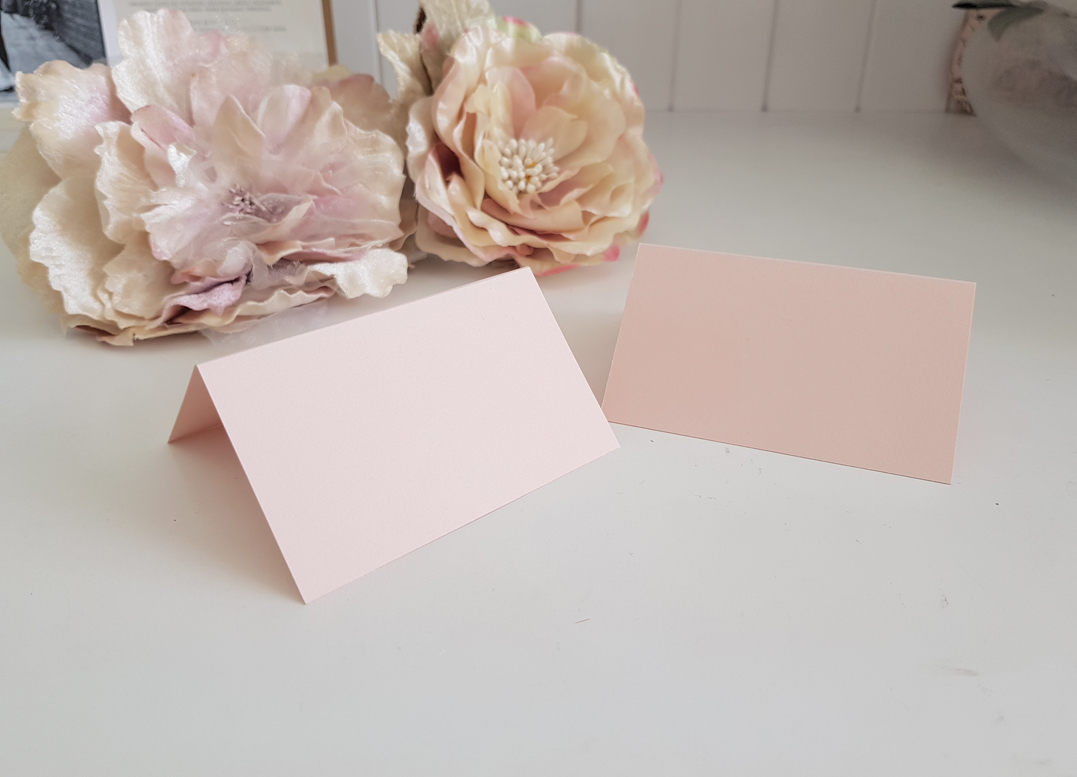 Blank Blush Pink Place cards name cards