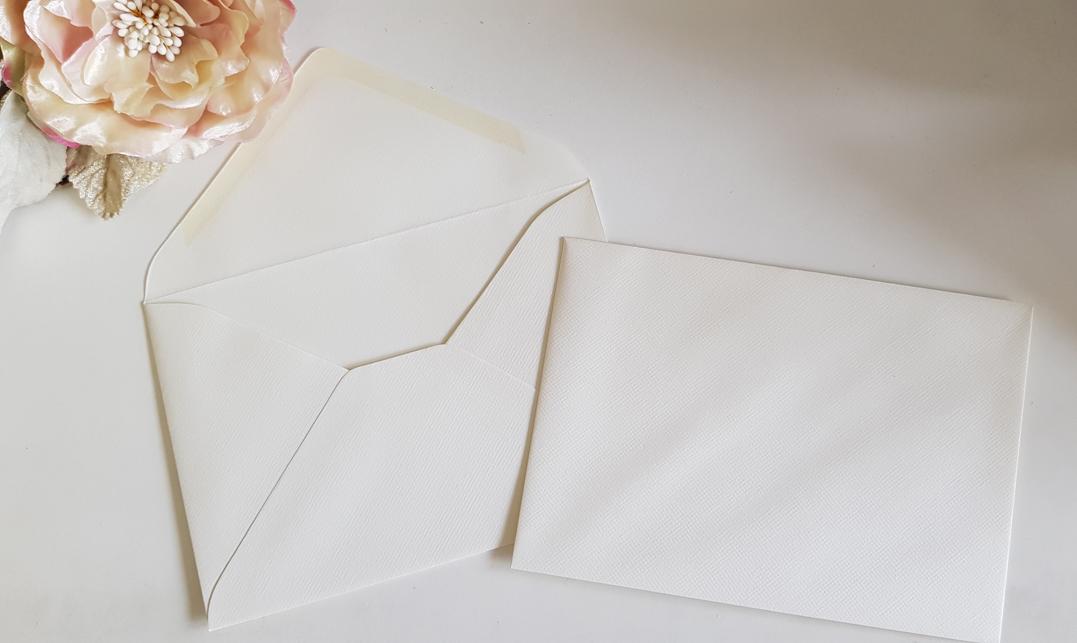 Fit 5x7 A7 Cream Envelopes Matt linen Sydney Australia size