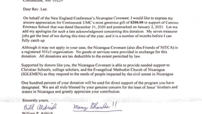 """""""Thank You"""" from Nicaragua Covenant"""