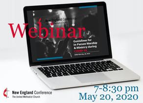 Important Webinar Tonight, 7 pm on May 20, 2020