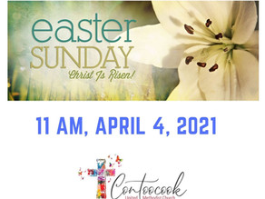 Easter Sunday In-Person & Live Worship at 11 AM, April 4, 2021