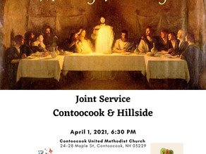 Maundy Thursday Joint Service at 6:30 pm on April 1, 2021