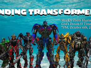 Finding Transformers #4 The Church is a Sacred Encountering Place at 7 pm, October 27, 2020