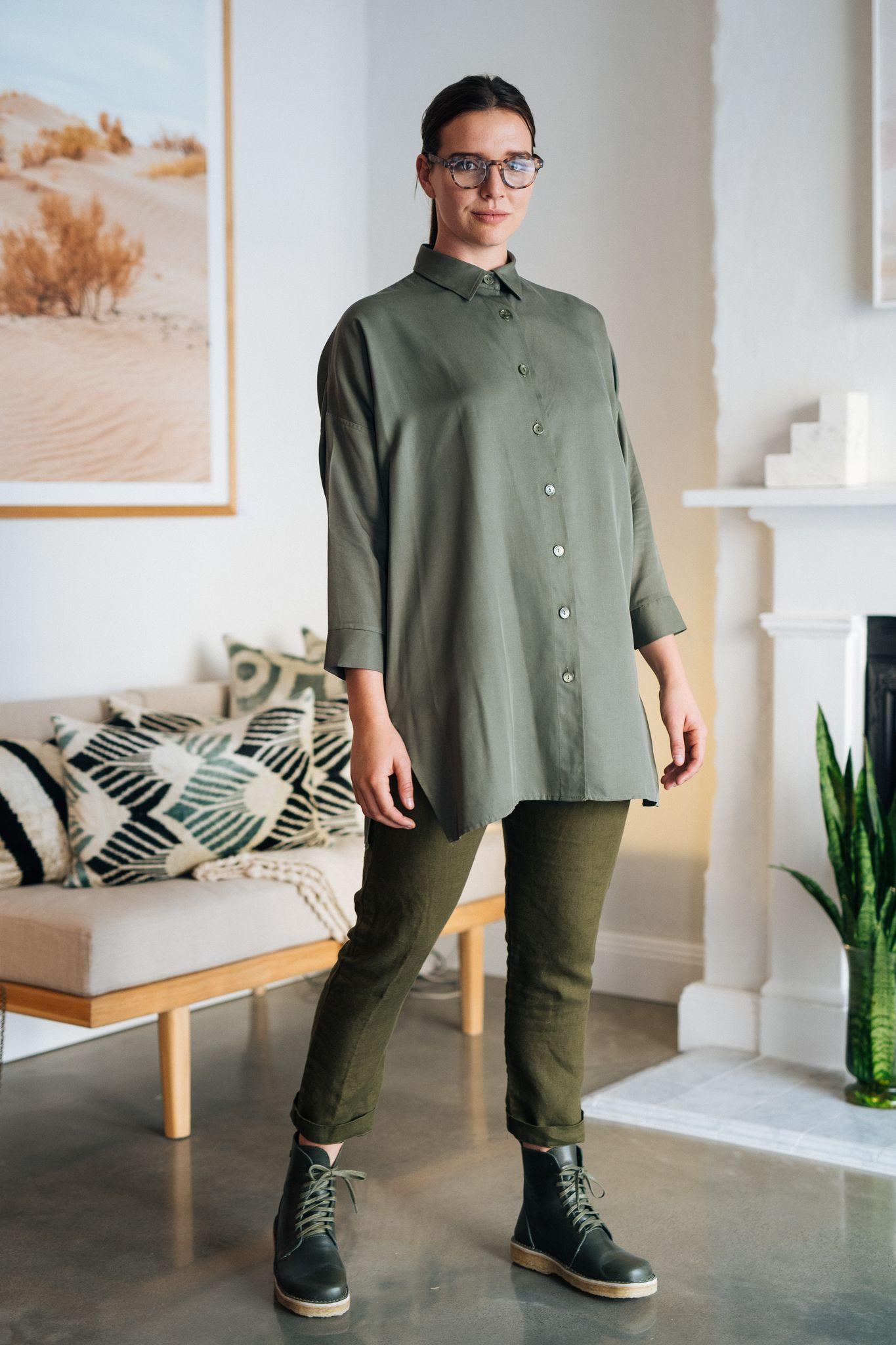Olive shirt and pants