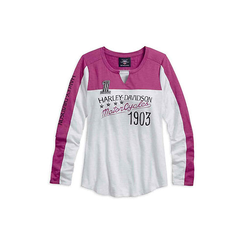 TEE SHIRT MANCHES LONGUES ROSE 1903