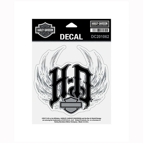 DECAL WINGED HD METALLIC