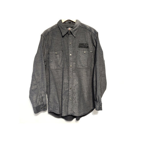CHEMISE ML GRISE PATCH