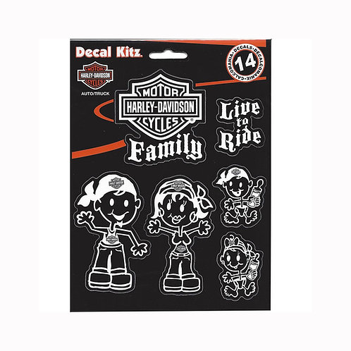 KIT STICKERS FAMILY HD