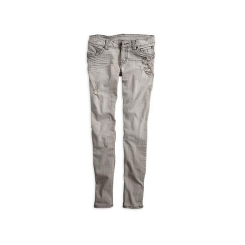 JEAN SKINNY GRIS AVEC CHAINES T.42