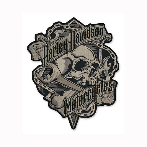 PATCH GRIM SKULL & WRENCH