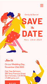 आयोजन website templates – Wedding RSVP
