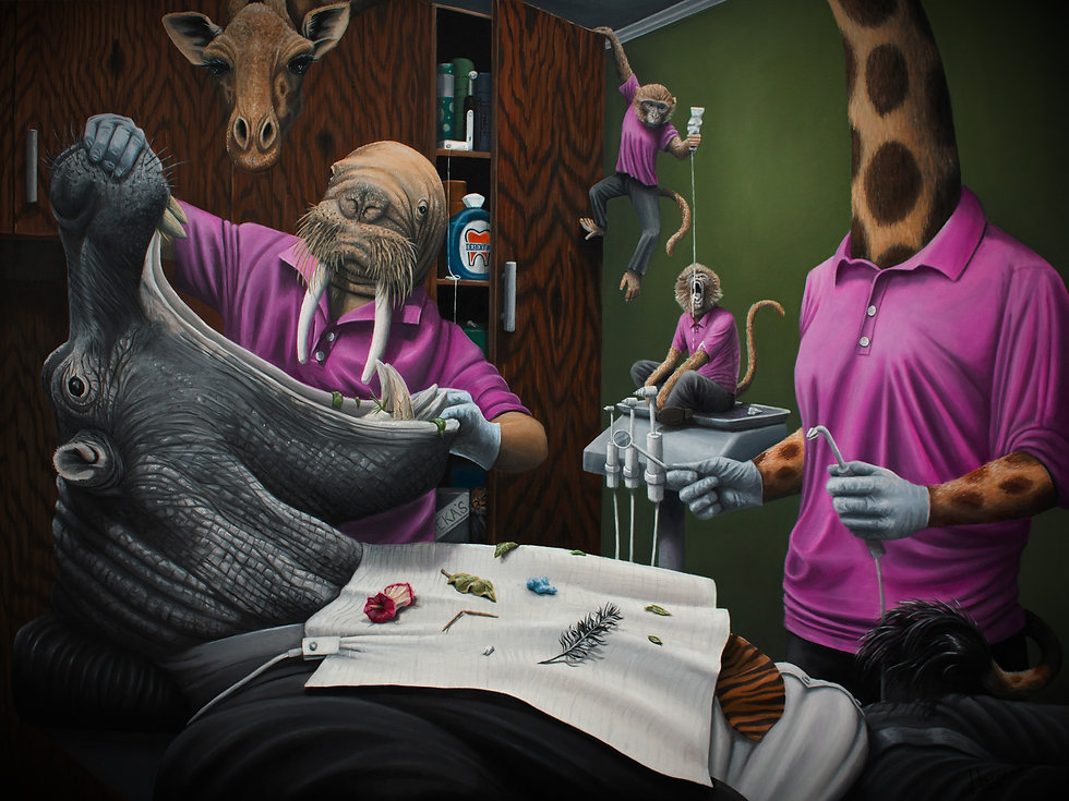 hero image of josh harnack oil painting for dr.fika dentistry
