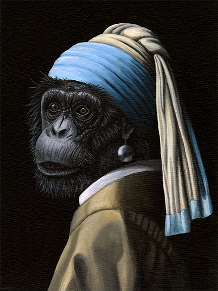 Chimp with a Pearl Earring