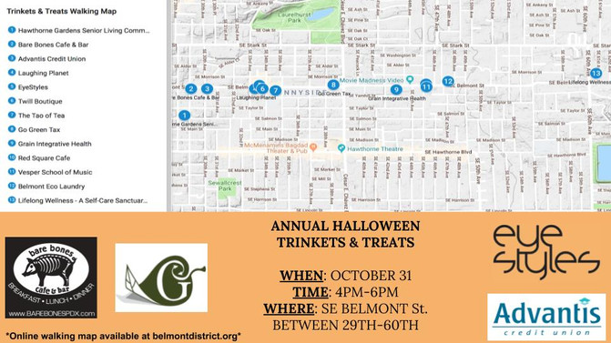 Trinkets & Treats Walking Map!