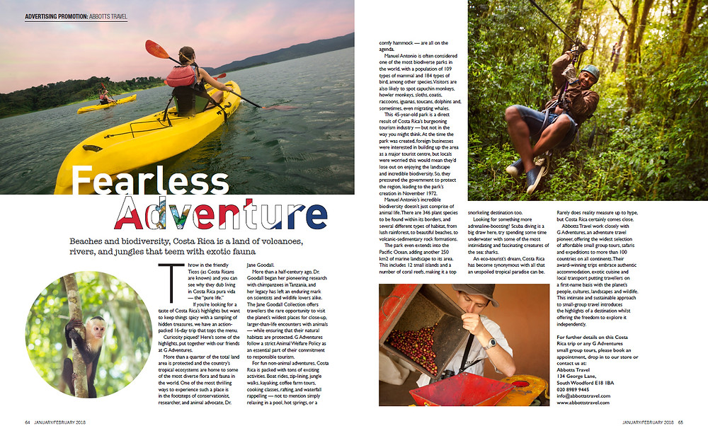 Costa Rica - Fearless Adventure, Essex Love Magazine