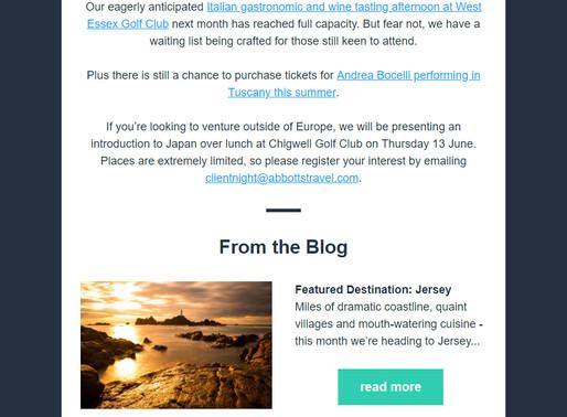 Abbotts Travel Newsletter, April 2019
