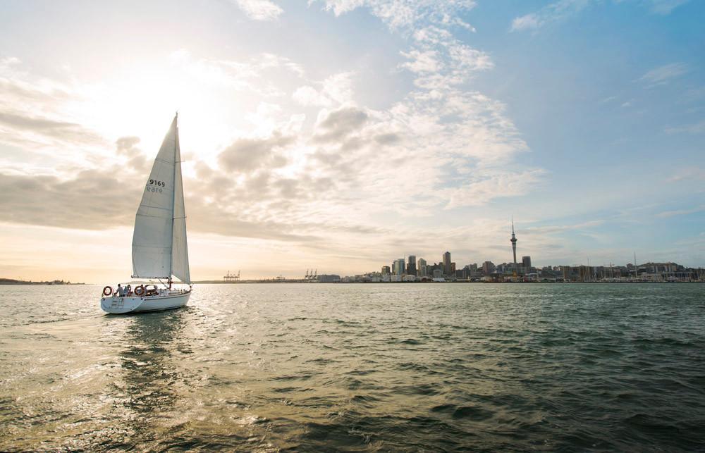Auckland Harbour, New Zealand Tour