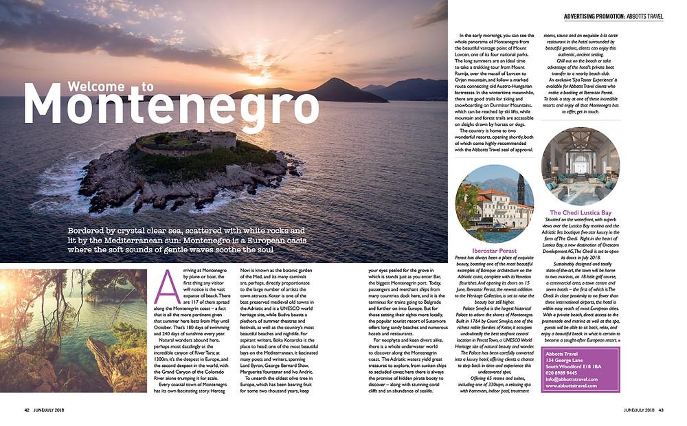 Welcome to Montenegro, E1iFE magazine