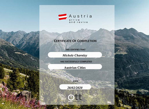 Shelley Charnley has completed the Austrian Cities online travel training