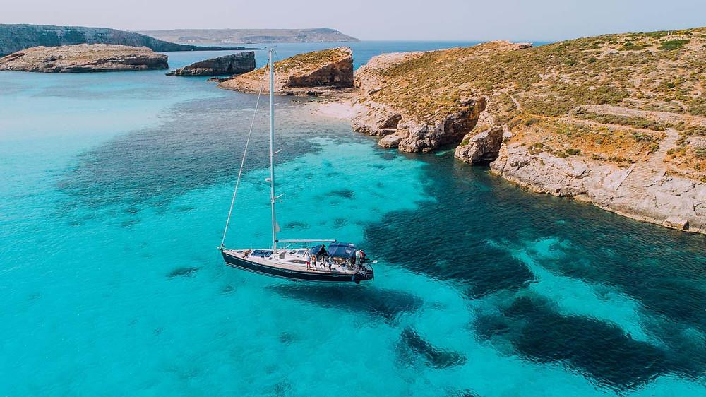 Blue Lagoon, off Comino