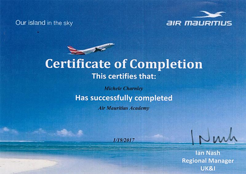 Air Mauritius Academy training